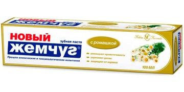 Зубная паста Невская Косметика Новый Жемчуг с ромашкой